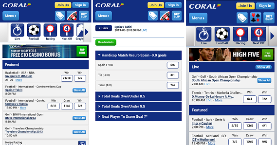 mobile betting apps coral