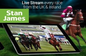 Stan James live streaming is available for horse racing