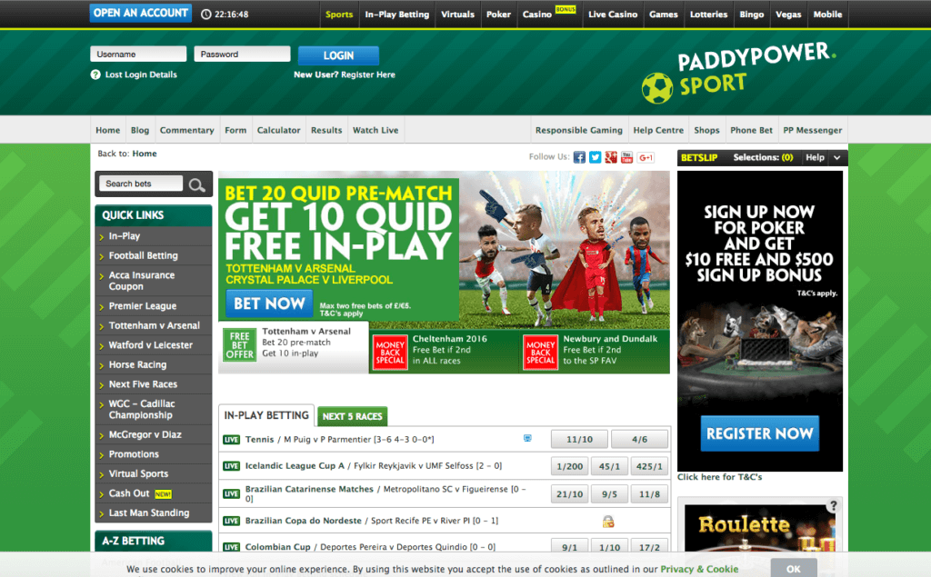 uk betting sites paddy power