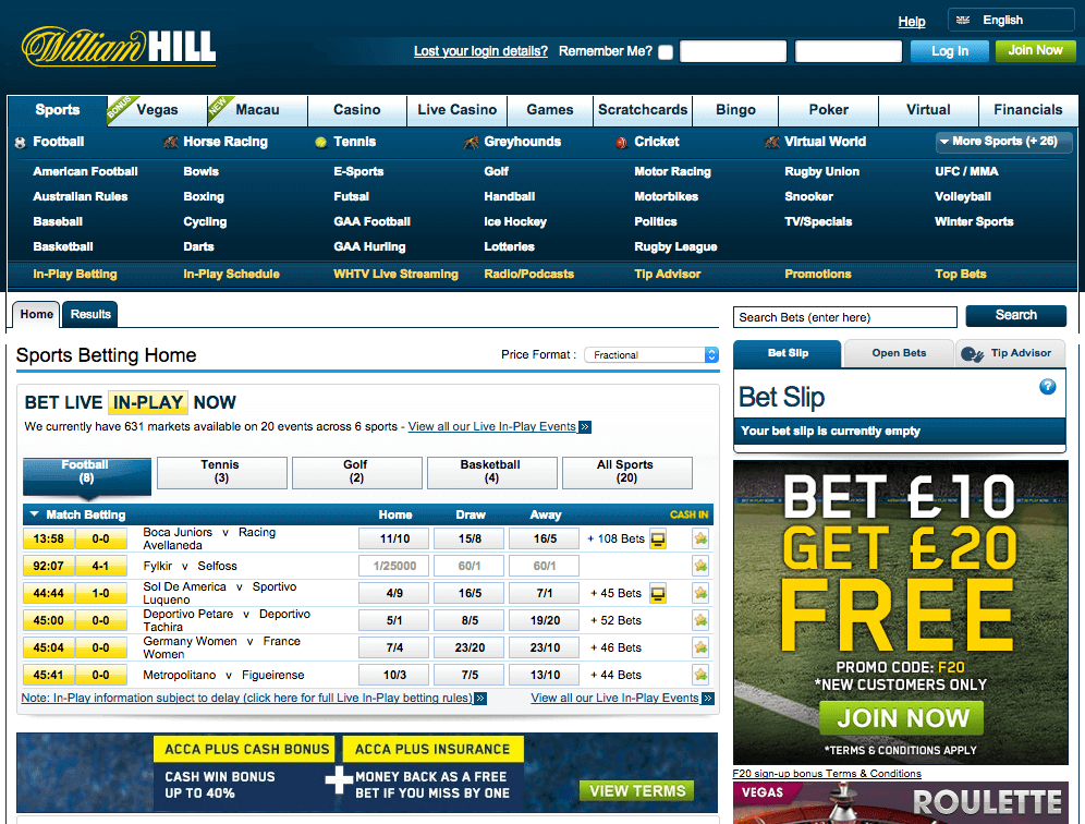 uk betting sites willhill
